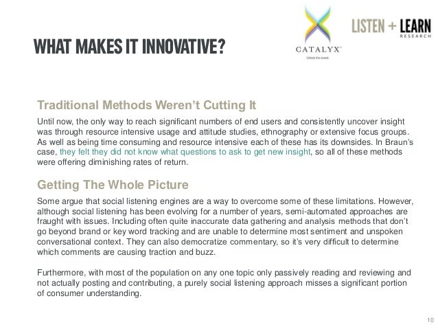 WHAT MAKES IT INNOVATIVE?  10  Traditional Methods Weren't Cutting It  Until now, the only way to reach significant number...