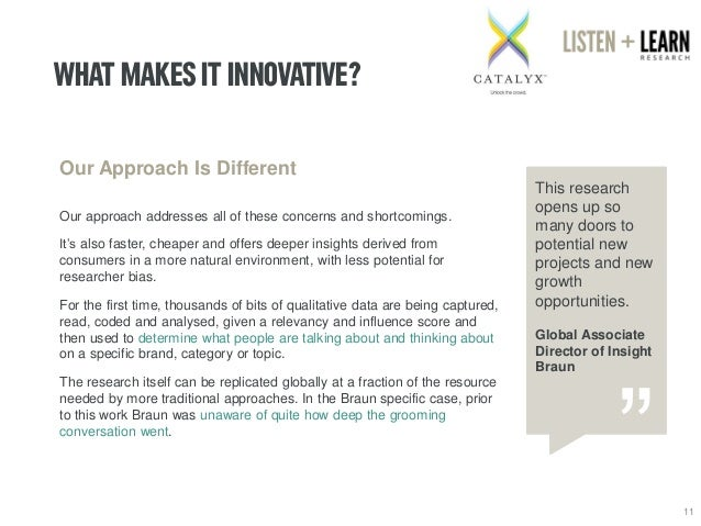 WHAT MAKES IT INNOVATIVE?  11  Our Approach Is Different  Our approach addresses all of these concerns and shortcomings.  ...