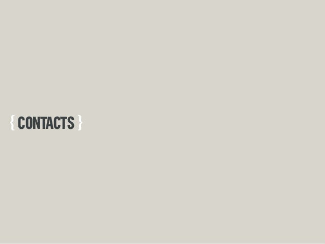 { CONTACTS }