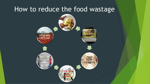 Don't waste foods