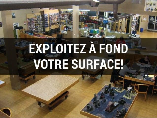 EXPLOITEZ À FOND VOTRE SURFACE!