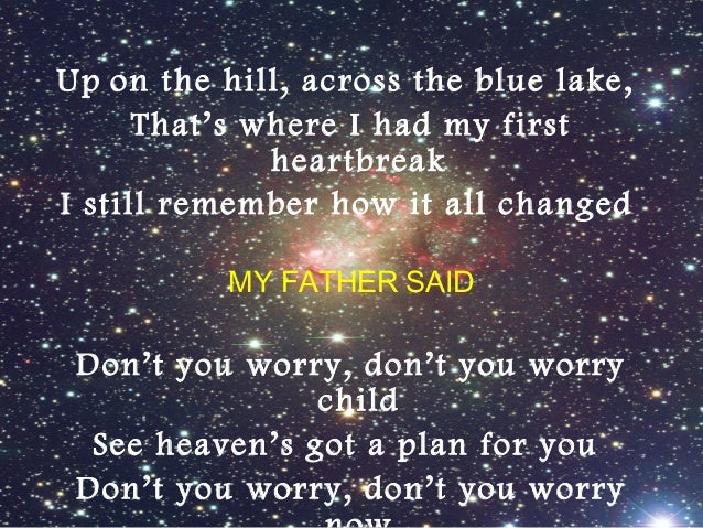 Don T You Worry Child By Swedish House Mafia