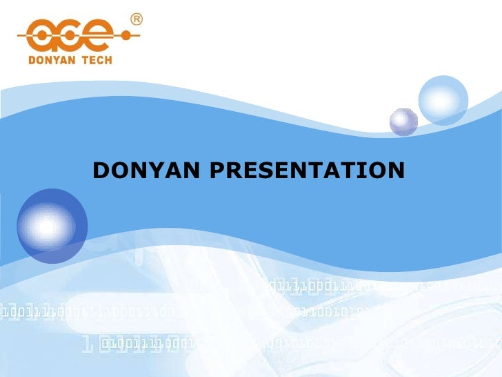 DONYAN PRESENTATION
