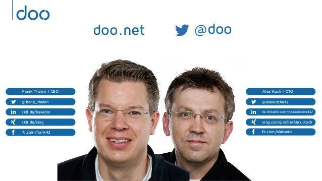 AWS Summit Berlin 2013 - doo - A Scalable Sync Framework Infrastructure based on Clojure, DynamoDB and PostgreSQL