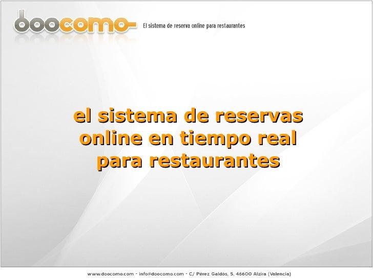 el sistema de reservas online en tiempo real para restaurantes