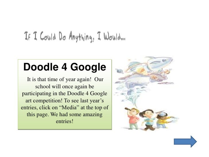 Doodle 4 Google <br />It is that time of year again!  Our school will once again be participating in the Doodle 4 Google a...