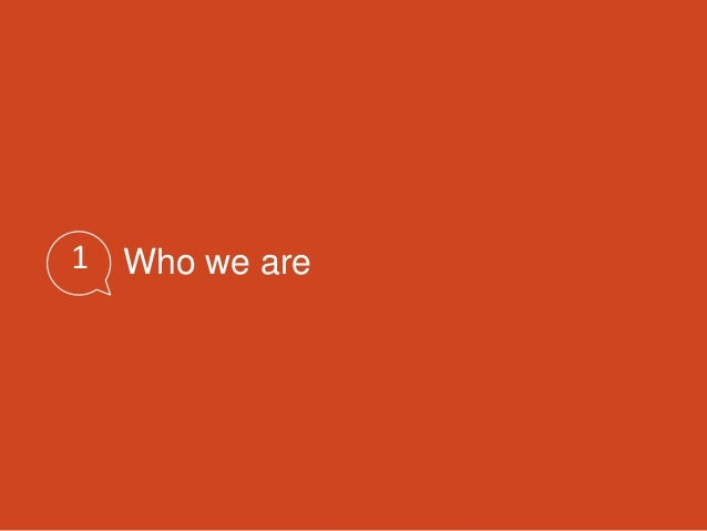 1 Who we are