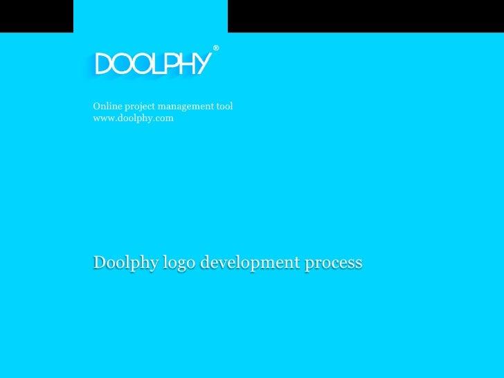 Online project management tool www.doolphy.com     Doolphy logo development process                                       ...