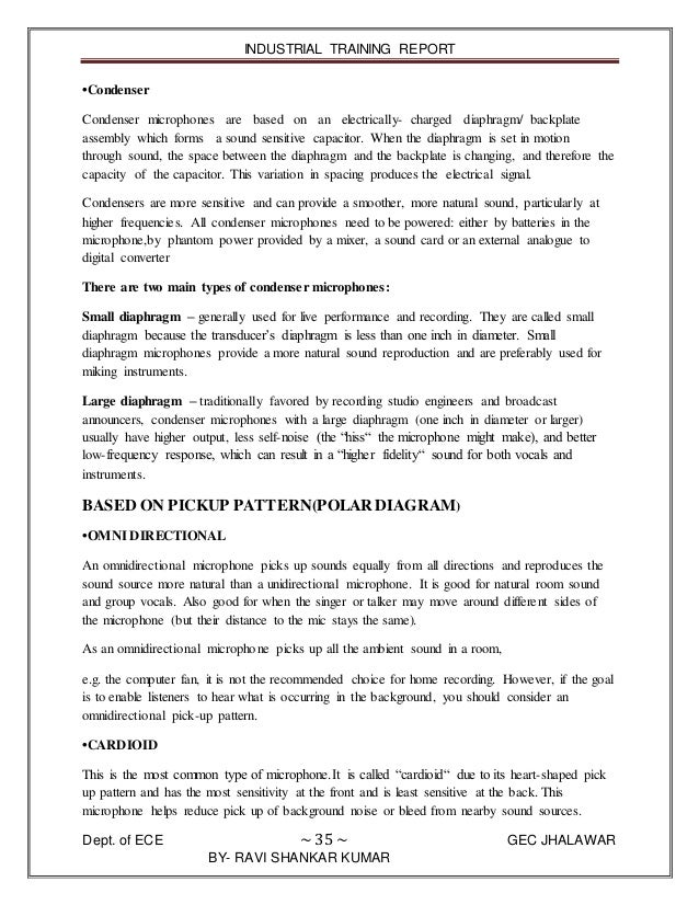 Doordarshan kendra patna training report