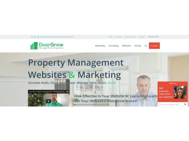 Doorgrow property management websites