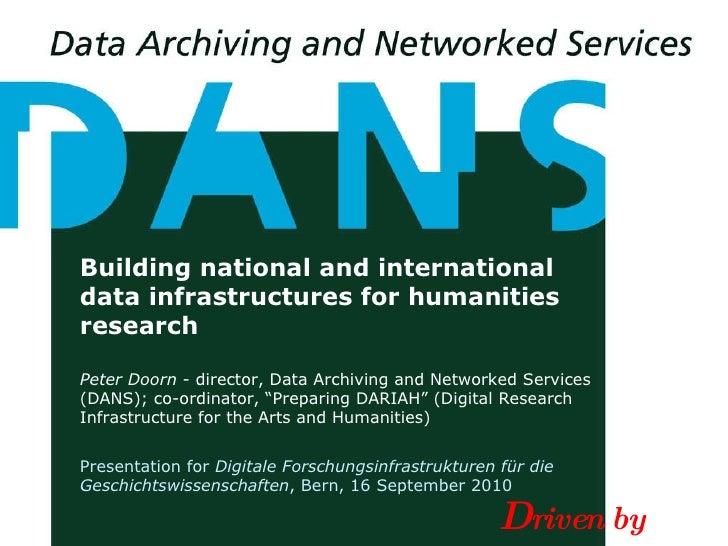P. Doorn (DANS Netherlands) - Building Data Infrastructures for Humanities