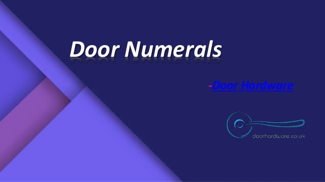 Door Numerals -Door Hardware ... & Door Numerals by Doorhardware