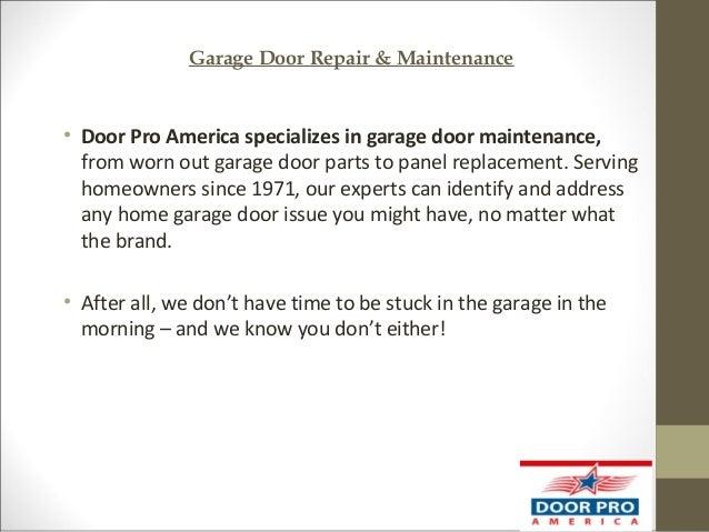 Exceptionnel 4. Garage Door Repair U0026 Maintenance U2022 Door Pro America ...