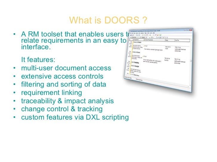 ... 17. What is DOORS ?  sc 1 st  SlideShare & Dynamic Object-Oriented Requirements System (DOORS) pezcame.com