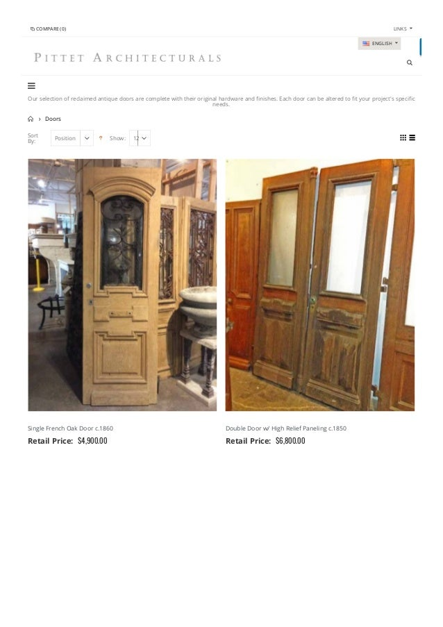 Sort By: Position  Show: 12 Our Selection Of Reclaimed Antique Doors Are  ...