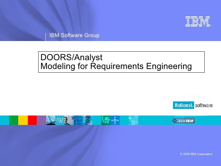 DOORS/Analyst Modeling for Requirements Engineering
