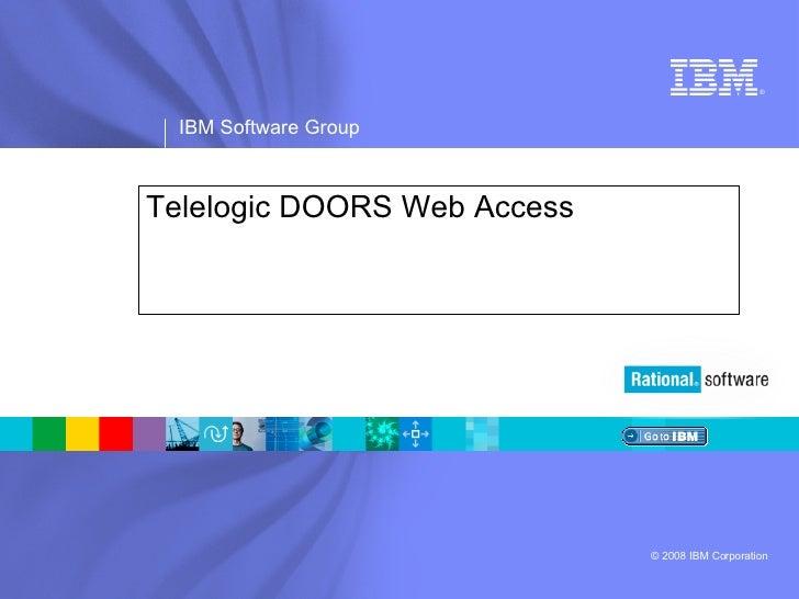 Telelogic DOORS Web Access