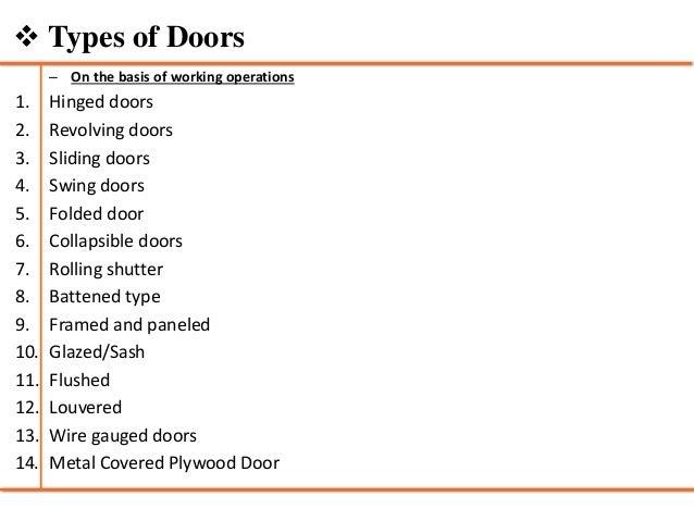 Metal Covered Plywood Door; 13.  sc 1 st  SlideShare & Doors and windows - Building Construction