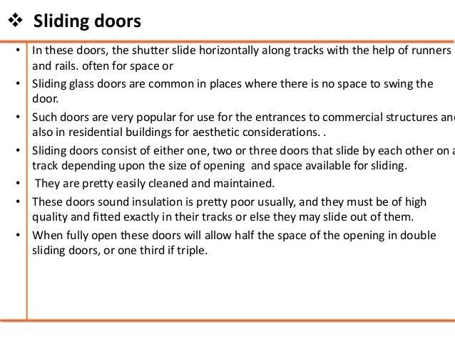 Enchanting Sliding Door Building Construction Pictures