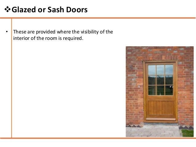 Glazed or Sash Doors; 24.  sc 1 st  SlideShare & Doors and windows - Building Construction