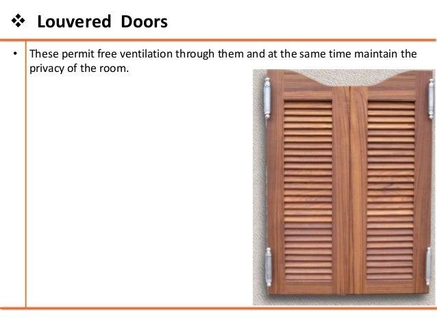 Louvered Doors; 26.  sc 1 st  SlideShare & Doors and windows - Building Construction