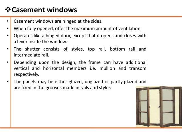?Casement windows; 37.  sc 1 st  SlideShare & Doors and windows - Building Construction