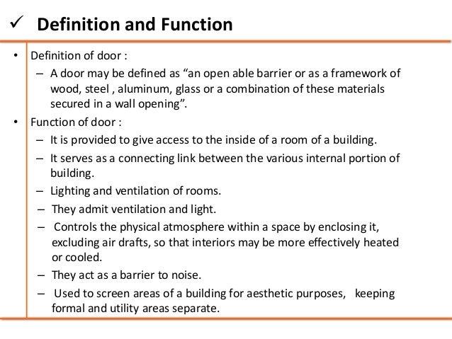 Locks  Topics; 4.  Definition ...  sc 1 st  SlideShare & Doors and windows - Building Construction
