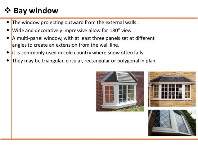 Doors and windows building construction for Bay window construction details