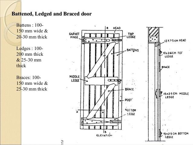 Battened ... sc 1 st SlideShare \u0026 Doors and windows  sc 1 st  pezcame.com & Battened Door \u0026 Types Of Doors - Battened Ledged And Braced Door