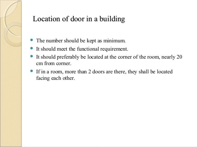 Doors and windows Slide 3