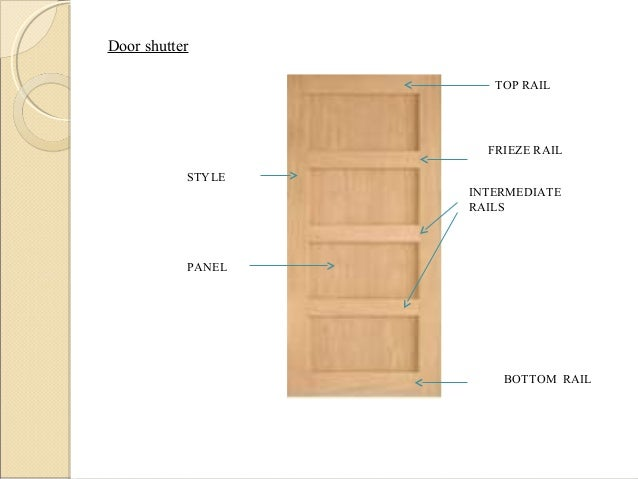 TOP RAIL BOTTOM RAIL INTERMEDIATE RAILS STYLE PANEL FRIEZE RAIL Door shutter ...  sc 1 st  SlideShare & Doors and windows