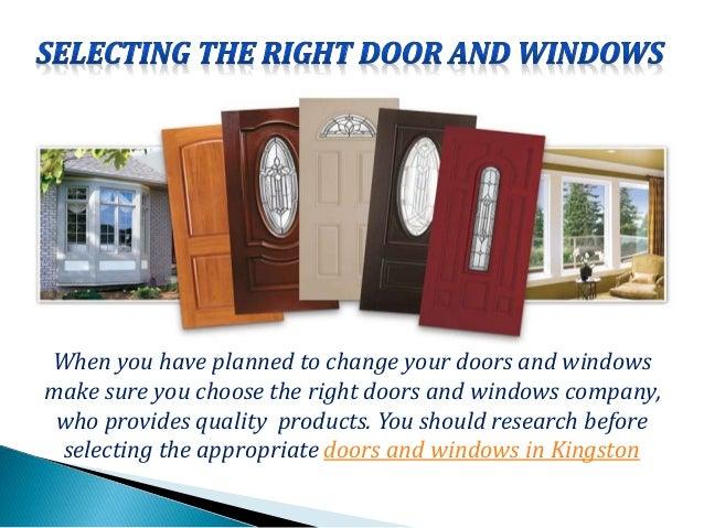 ... doors and windows in Kingston; 3.  sc 1 st  SlideShare & DOORS AND WINDOWS KINGSTON