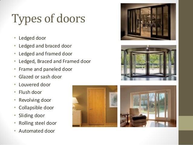 Types of doors ...