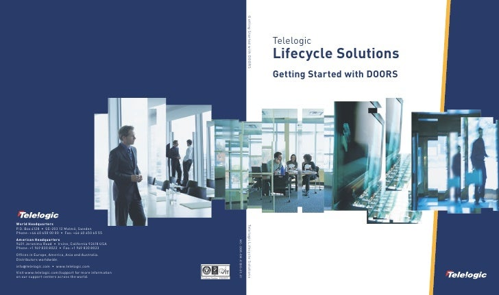 Telelogic Lifecycle Solutions Getting Started with DOORS
