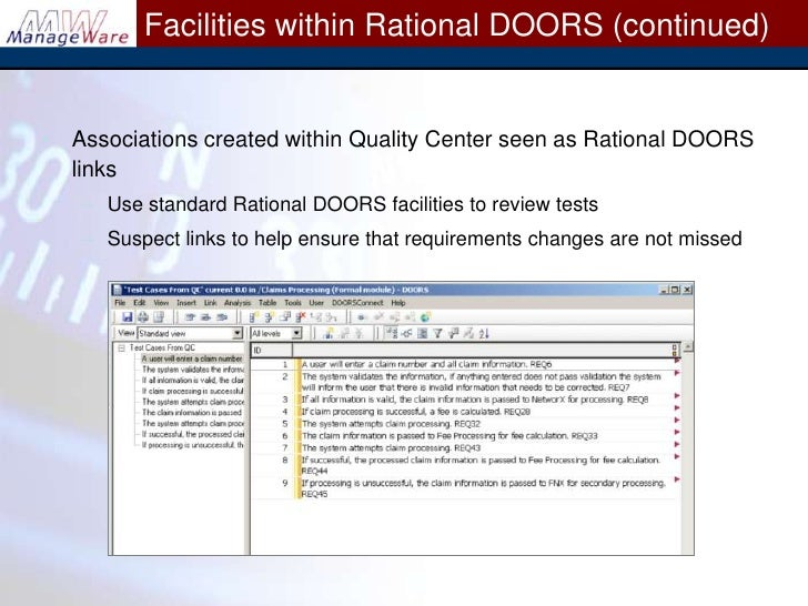 ... Rational DOORS and Quality Center\u003cbr /\u003e; 15.