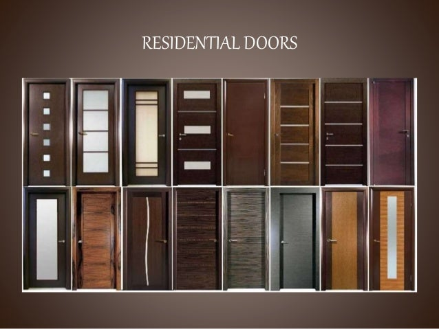 Doors ppt for Types of doors