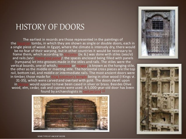 HISTORY OF DOORS ... & Doors ppt
