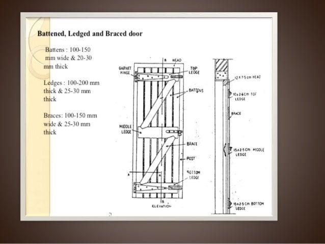 Flush Door Plan Elevation Section : Doors ppt