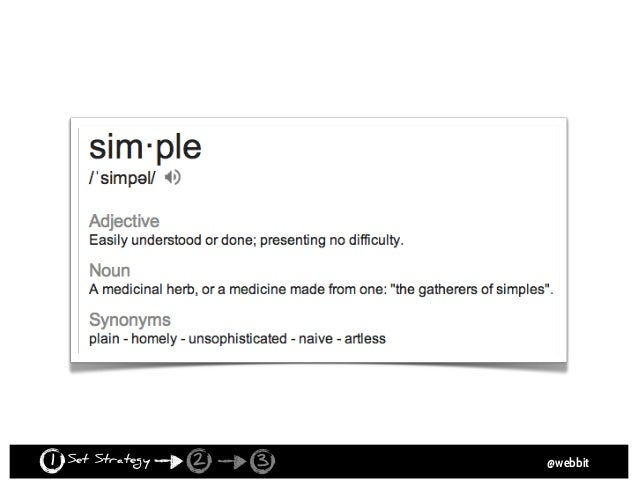 @webbit 10 LAWS OF SIMPLICITY Set Strategy1 2 3