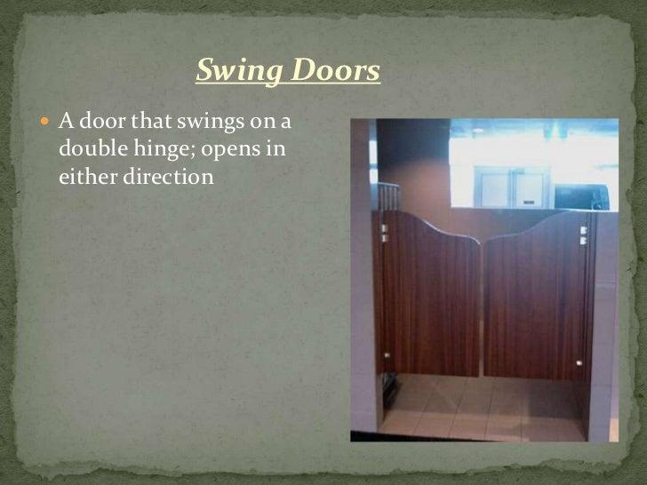 Non Swinging Doors : Door terminology swing doors