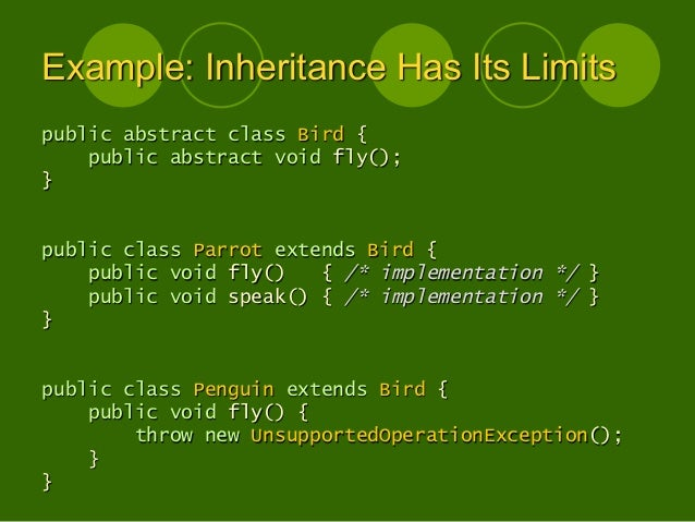 Designing Object Oriented Software - lecture slides 2013