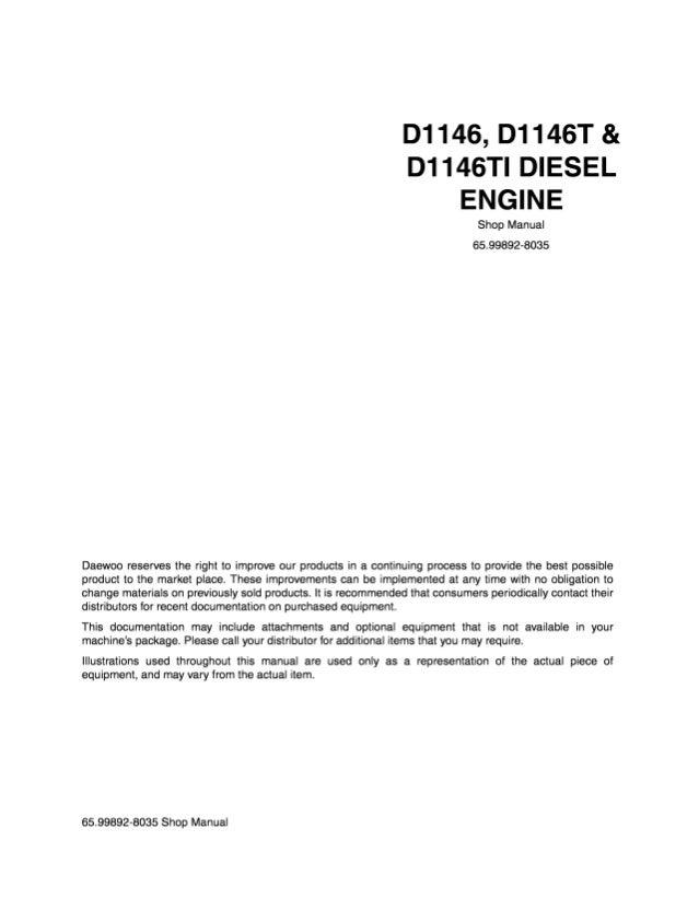 DOOSAN motor D1146 T