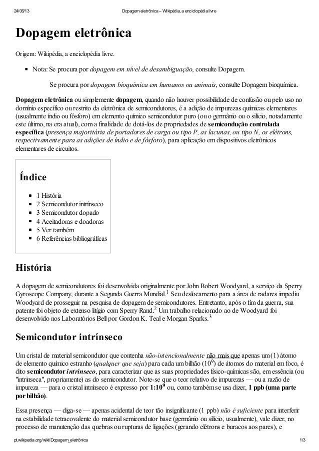 24/06/13 Dopagem eletrônica – Wikipédia, a enciclopédia livrept.wikipedia.org/wiki/Dopagem_eletrônica 1/3Dopagem eletrônic...