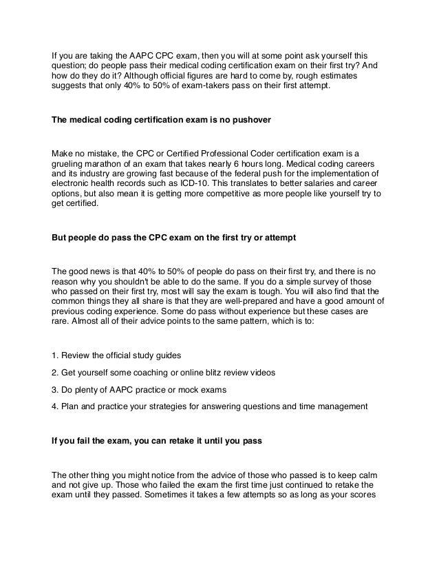 Cpc Exam Aapc Cpc Exam Practice Questions Cpc Practice Exam