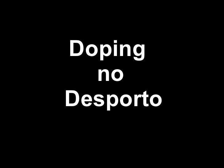 Doping  no  Desporto