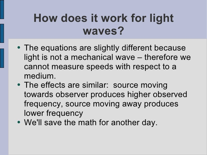 Doppler Effect with math