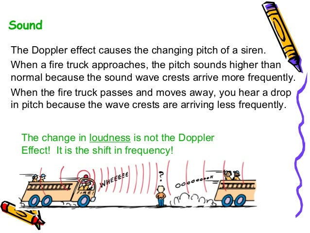 the doppler effect This change in pitch is called a doppler effect there are equations that describe the doppler effect as the moving source approaches our ear.