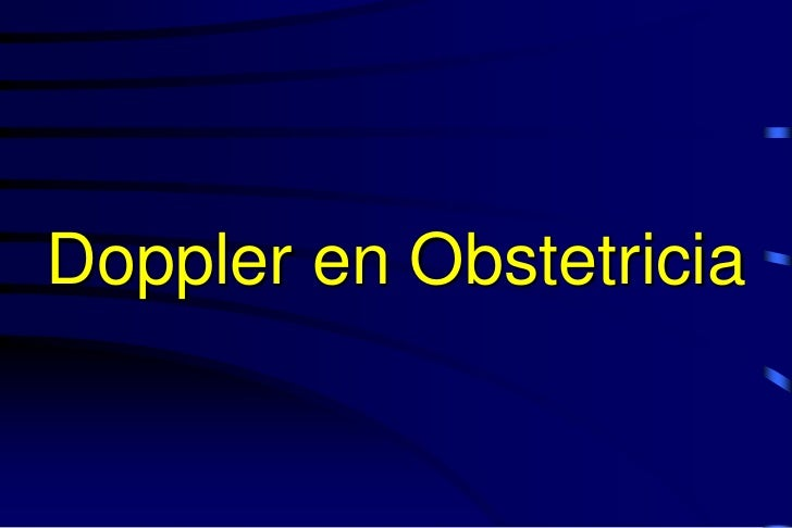 Doppler en Obstetricia
