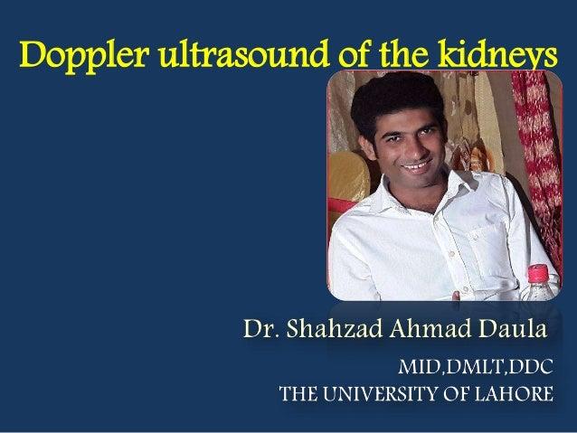 Doppler ultrasound of the kidneys