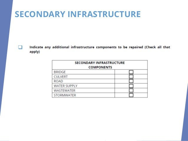 SECONDARY INFRASTRUCTURE ❑ lz